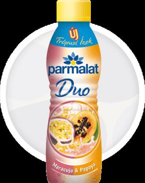 Parmalat Duo joghurtital Maracuja-Papaya