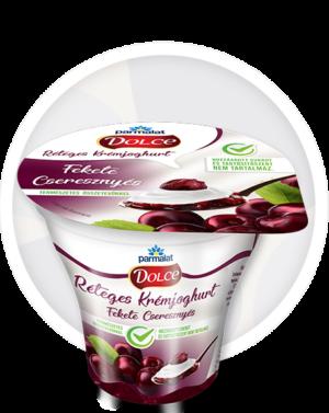 Parmalat Dolce Réteges Krémjoghurt Fekete Cseresznyés