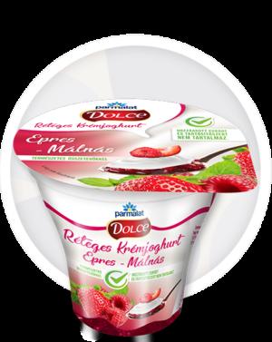 Parmalat Dolce Réteges Krémjoghurt Epres-Málnás